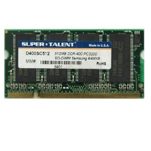 MÉMOIRE RAM 512Mo RAM PC Portable SODIMM Super Talent D266SC51