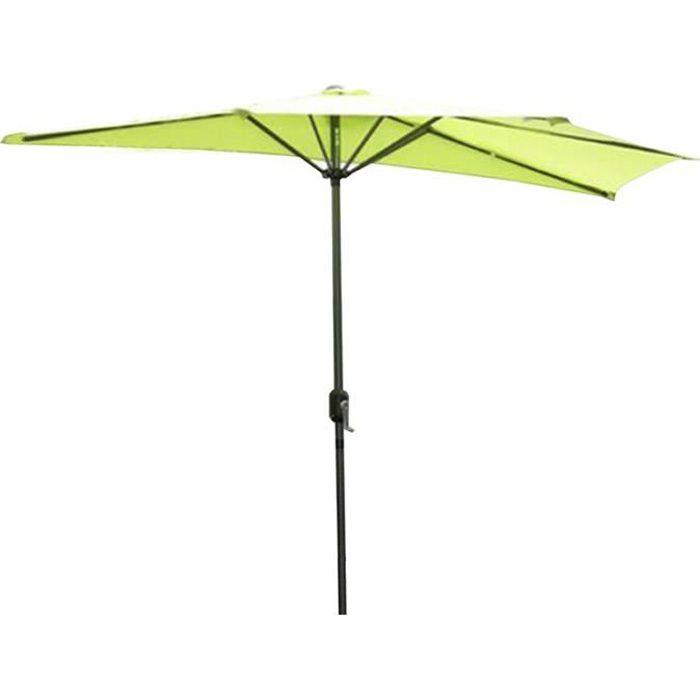 Angel Living 270cm Demi-parasol Pour Balcon ou Jardin,Plage,IP50+ (Pomme Vert).