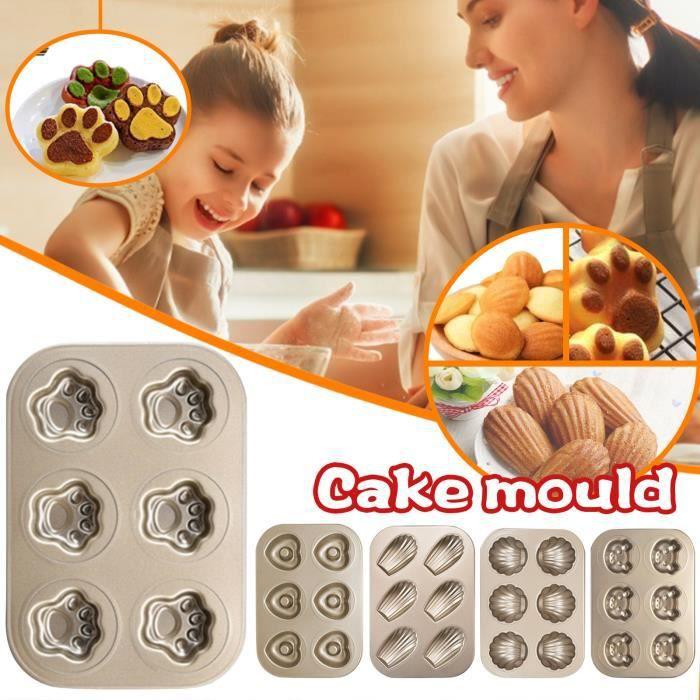 Moule à gâteau Mini Madeleine, moule à biscuits ovale antiadhésif à 6 cavités D15132