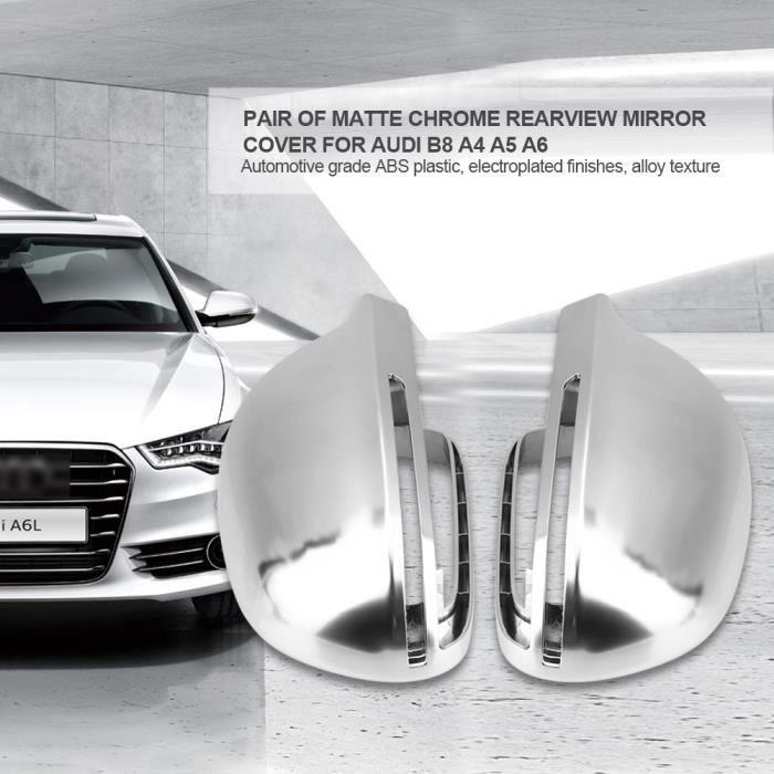 Paire de capuchons de protection pour rétroviseurs en chrome mat pour Audi B8 A4 A5 A6-DBA