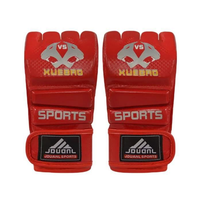Adulte Fighting moitié Gants Finger / Gants de boxe UFC, rouge
