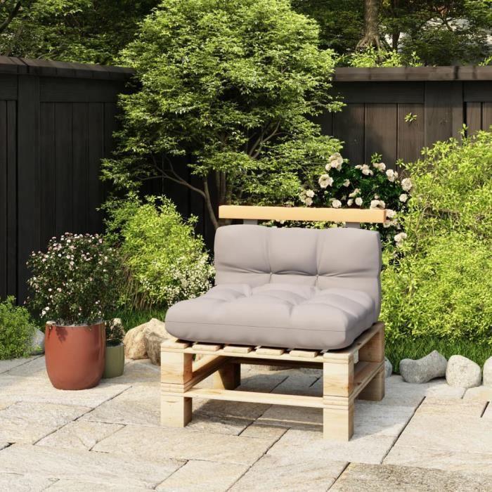 MA -8335Elégant Coussin de sol Grand Confort Coussin extérieur Dossier pour canapé palette 70 cm Bois de pin solide