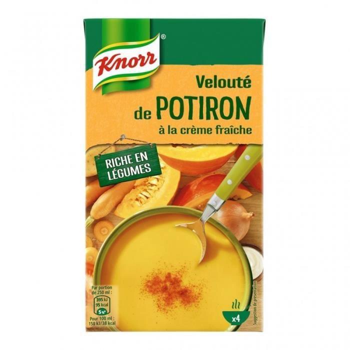 Knorr Velouté de Potiron à la Crème Fraîche 1L (lot de 4)
