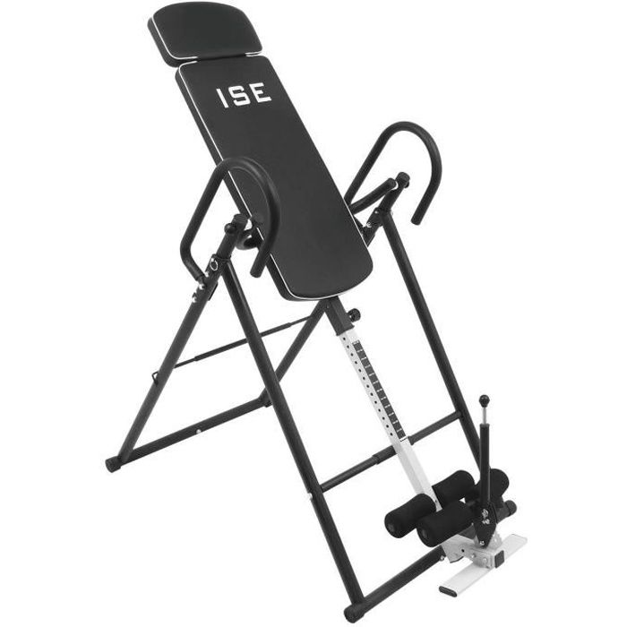 ISE Table d'Inversion Musculation Pliable - Taille jusqu'à 190 cm - Inversion Max de 180°, pour exercices du dos