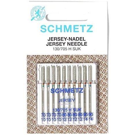 Schmetz Aiguilles pour machine à coudre BallPoint Asst 70-90 (Pack of 10)