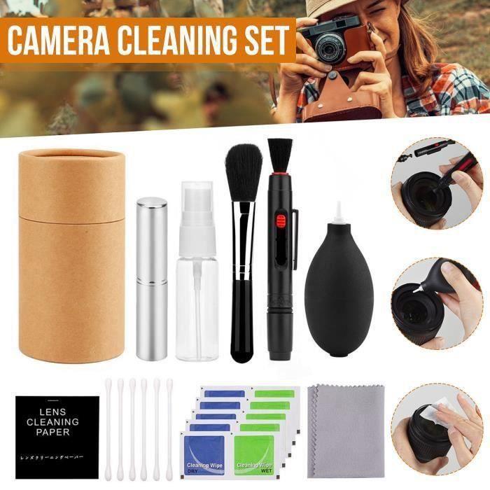 TEMPSA Kit de Nettoyage de l'appareil Photo Équipement Bouteille de pulvérisation Lentille Stylo Brosse Ventilateur