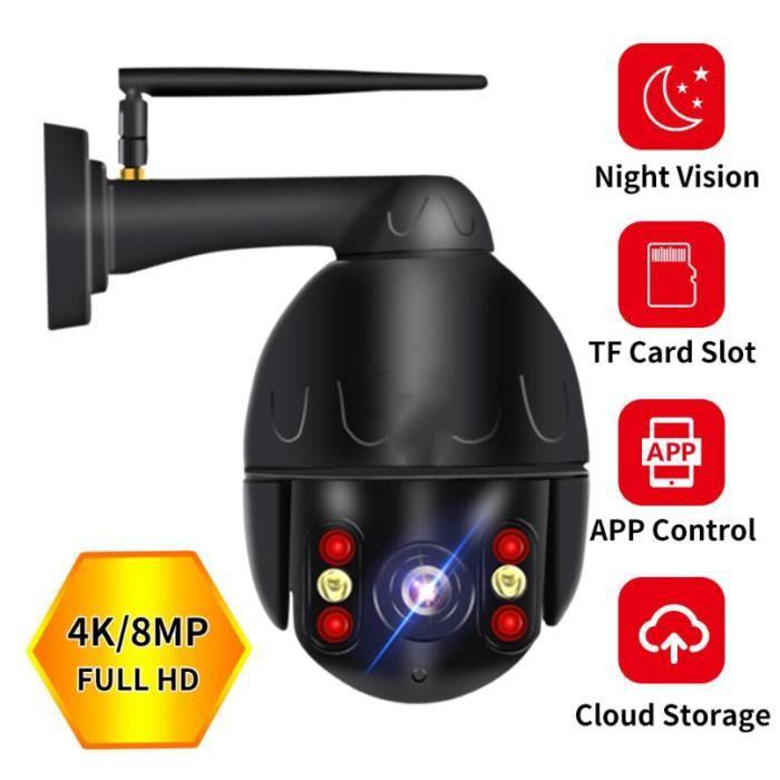Cloud 4K Wifi PTZ Caméra Extérieur 8MP Vidéosurveillance Auto Sécurité à Domicile Caméra IP