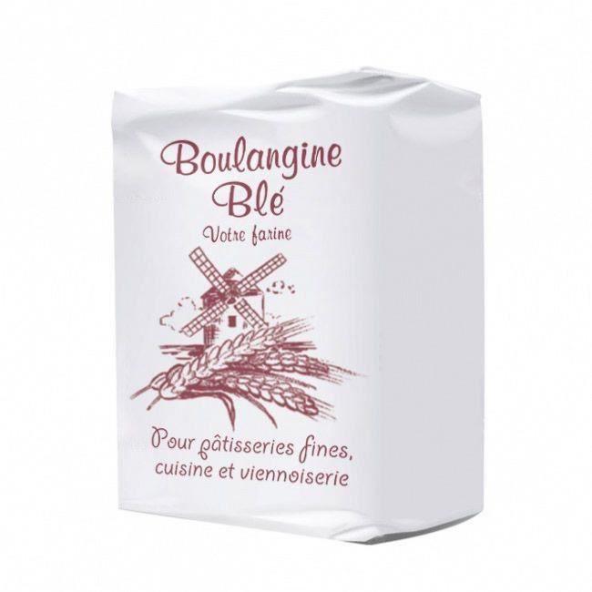 Farine de blé blanche type T45 Multi-Usage 1KG - Marque Boulangine - Origine France - 4KG (4x1KG)