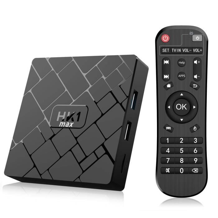 Android 8.1 TV Box 【4+64GB】 Bluetooth 4.0 Android TV Box USB 3.0 HK1 Max Quad-Core Wi-FI 2.4G/5G LAN100M 4K Android Smart TV Box