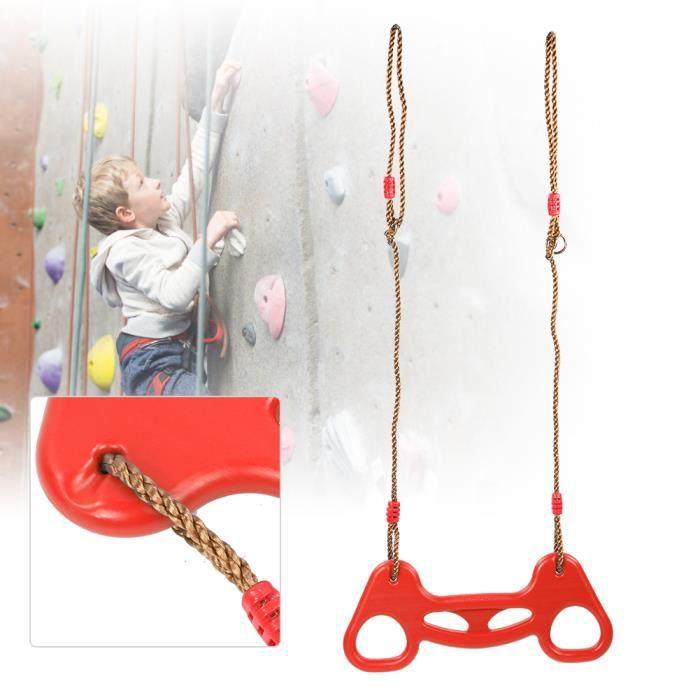 Anneau de Traction Multifonctionnel avec Corde Jouet de Balançoire Enfants pour Extérieur Intérieur(Rouge )