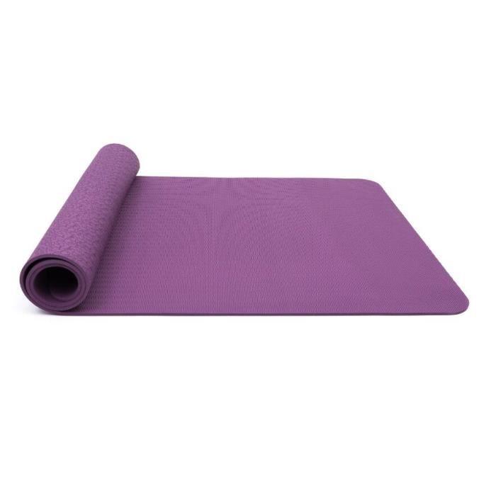 Tapis de Sol Pilates Antidérapant avec Sac Tapis et Sangle Transport Tapis de Fitness Gymnastique pour Yoga 183* 61* 0,6 cm - Violet
