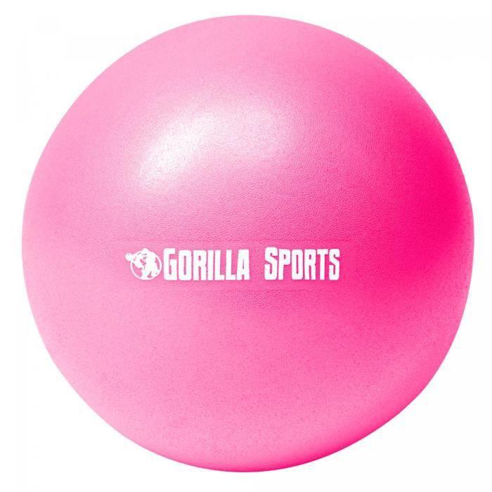 Ballon de Pilates rose Soft Ball - Diamètre : 23 cm