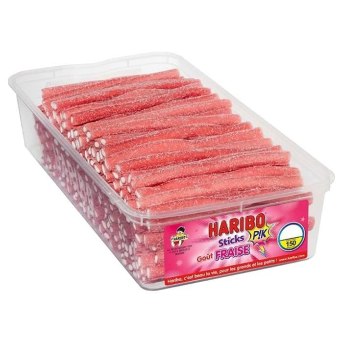 Haribo Sticks Pik Fraise (lot de 6)