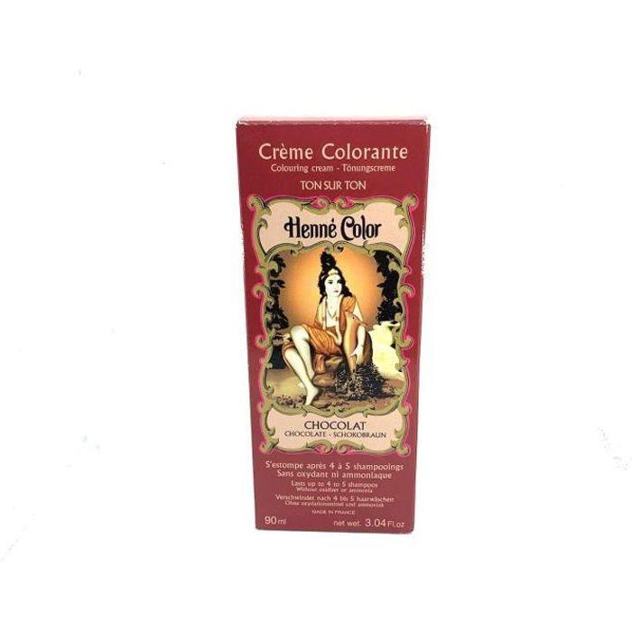 Crème Colorante au Henné Chocolat 90ml