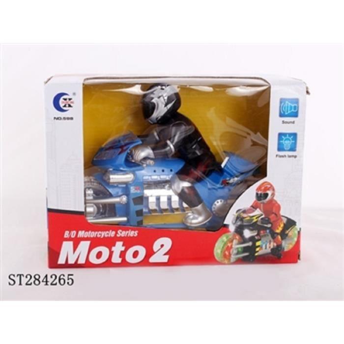 Moto miniature musicale et lumineuse