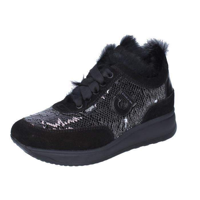 AGILE by RUCOLINE Chaussures Femme Baskets Noir BJ783