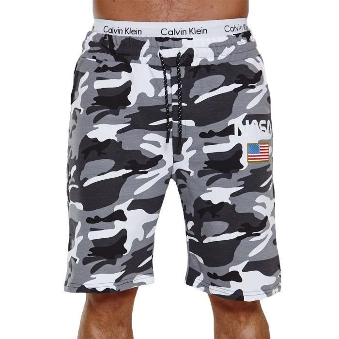 Short camouflage homme Short Nasa CA3711 blanc