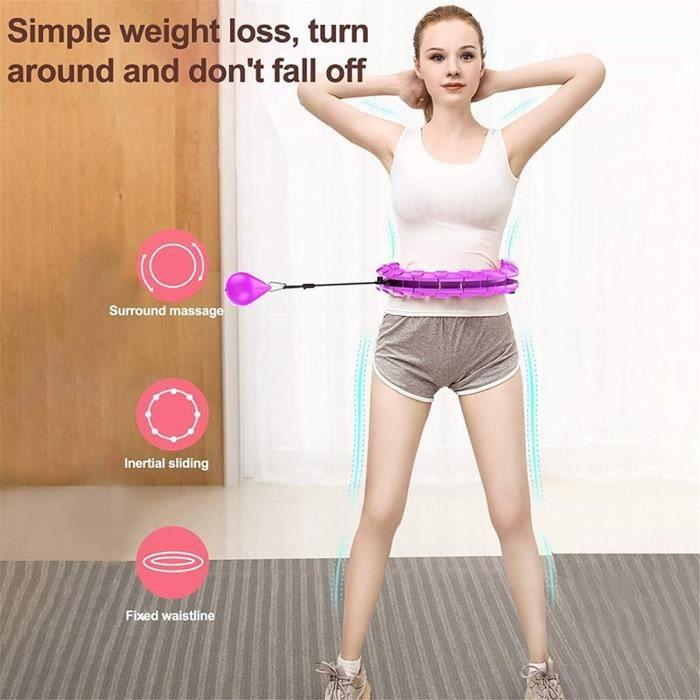 Cerceau Intelligent, Cerceau de Massage Fitness et de Perte de Poids innovant Convient aux débutants taille 120 cm