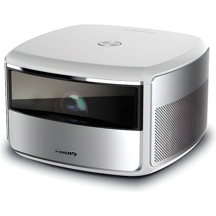 PHILIPS SCREENEO S6 Vidéoprojecteur 4K/HDR - 2000 LED Lumens - WiFi - Bluetooth - Haut-parleurs intégré - 120- - Android