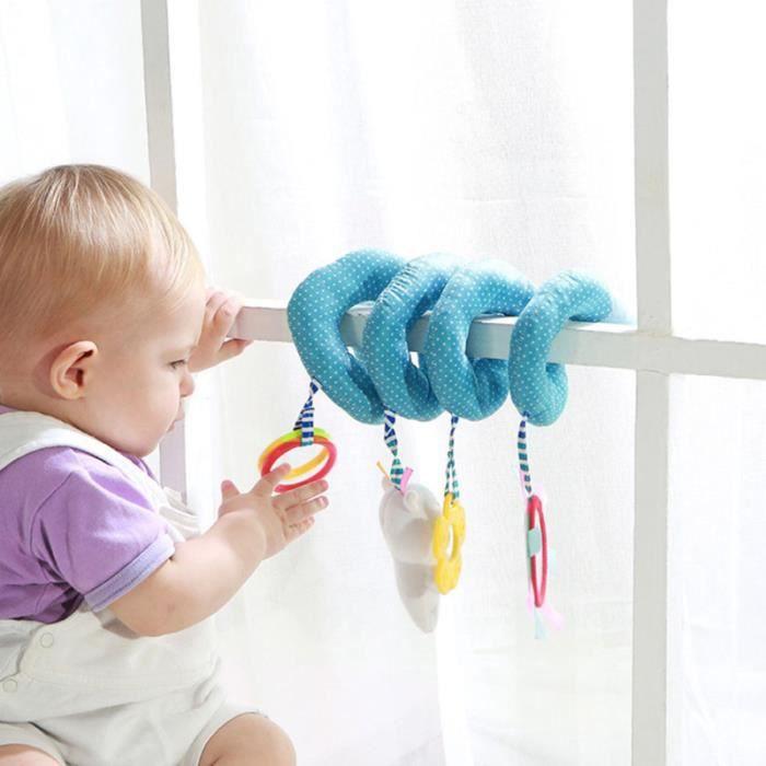 1 pc léger poussette portable suspendue jouet pour les enfants en bas âge spirale - tortillon jouet premier age
