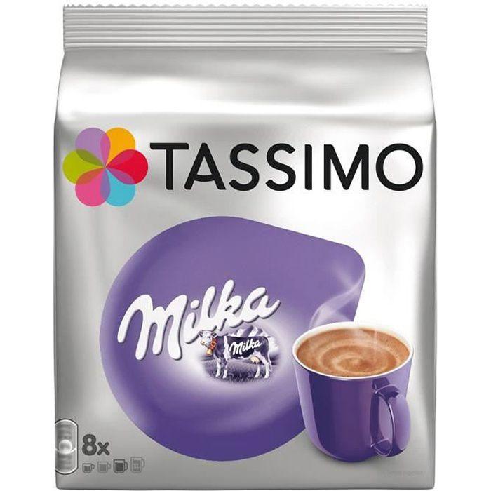 Cafe Moulu - TASSIMO Milka - Dosettes pour Chocolat Chaud 8 capsules