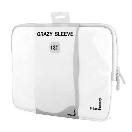 Urban Factory Crazy Sacoche Sleeve Vinyl pour Ordinateur Portable 12- Blanc