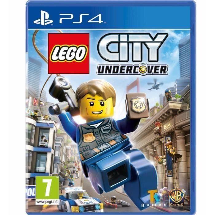 LEGO City Undercover Jeu PS4 + 2 LED Light Bar Skin
