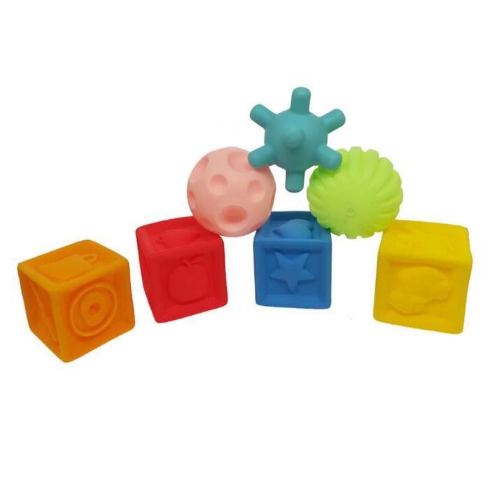 BOÎTE À FORME - GIGOGNE 7pcs enfants en caoutchouc souple polygonal forme