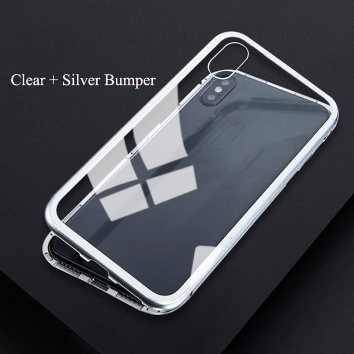 Magnétique Coque pour iPhone X ,Avec Adsorption ma