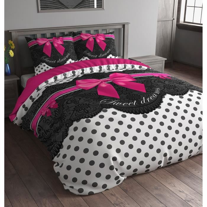 parure de lit sweet dreams rose achat vente parure de. Black Bedroom Furniture Sets. Home Design Ideas