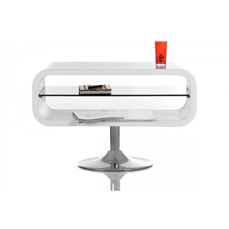 Meuble tv design night blanc laqu achat vente meuble - Meuble tele design laque blanc ...