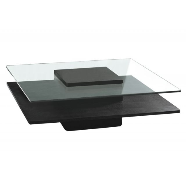Table basse brenton verre wenge achat vente table for Tables basses de salon en verre