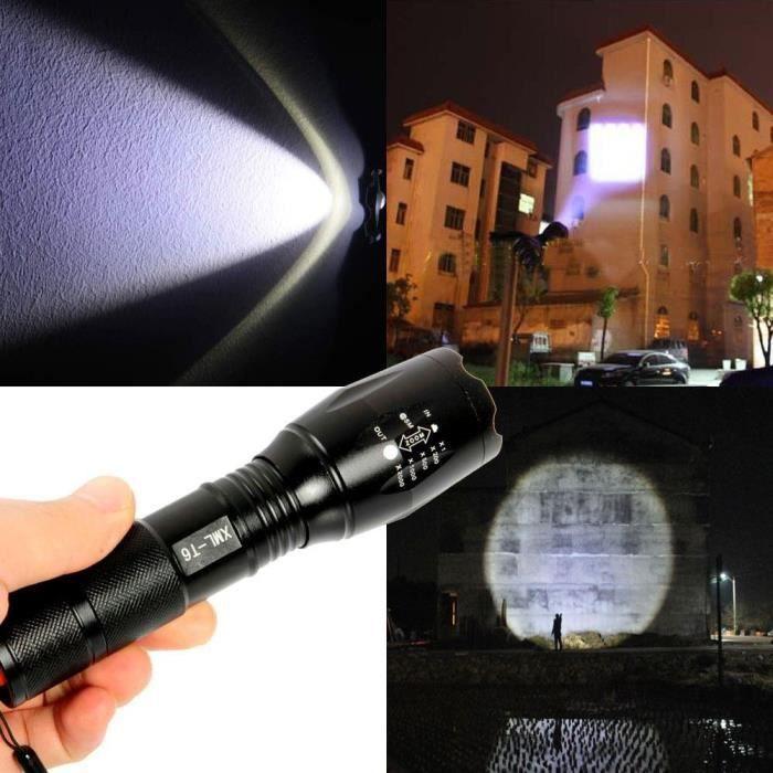 Zoom 18650 Ultrafire Lampe Torche 2000 Lumens LED CREE XM-L T6 étanche 5 Modes