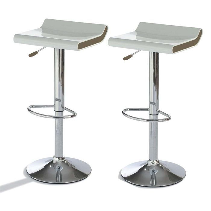 lot de 2 tabourets de bar helgo gris achat vente tabouret cdiscount. Black Bedroom Furniture Sets. Home Design Ideas