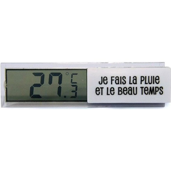 Thermom tre digital d 39 int rieur blanc station m t o for Thermometre interieur digital