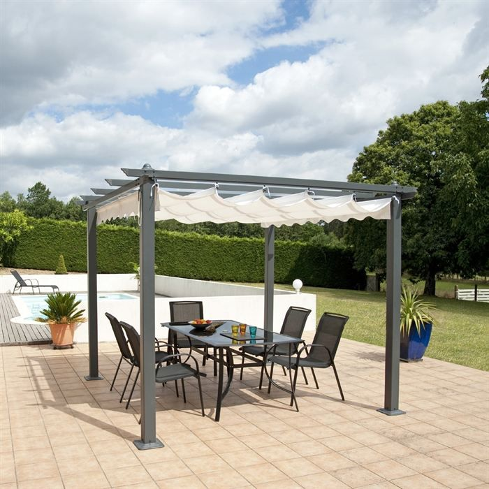 opera pergola 3 x 4 m gris taupe achat vente. Black Bedroom Furniture Sets. Home Design Ideas