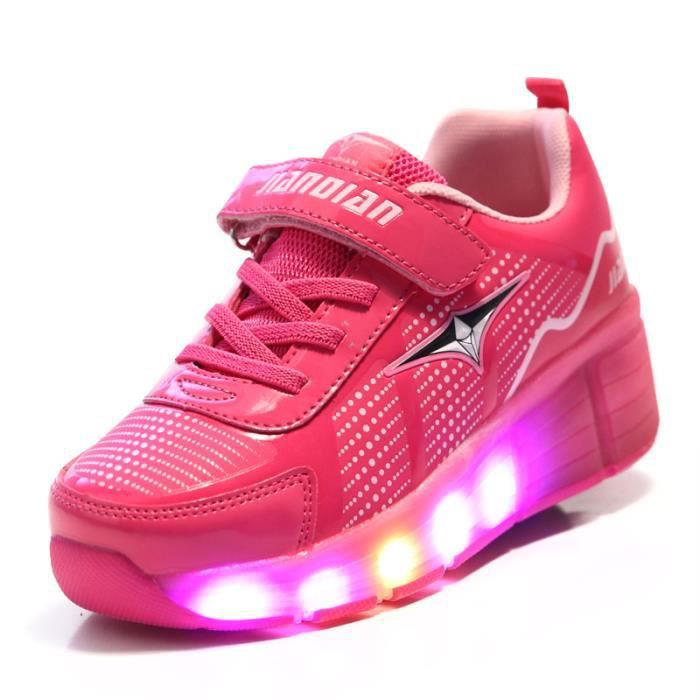 Unisexe baskets rouleaux simples kidsultra lumi re avec la lumi re LED