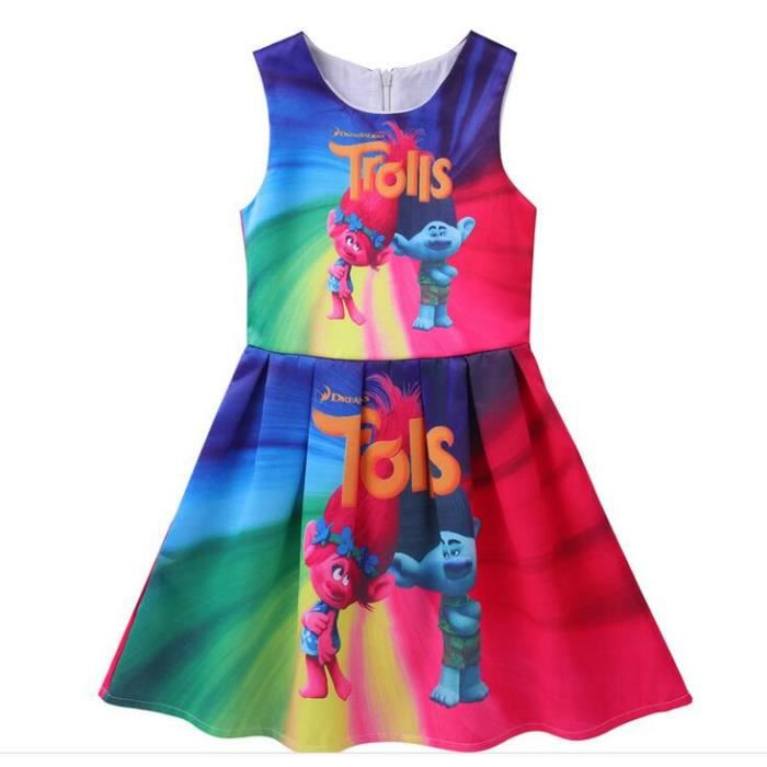 63c16e8da0a Trolls robe fille enfant vetement enfant princesse fille reine des neiges  dress