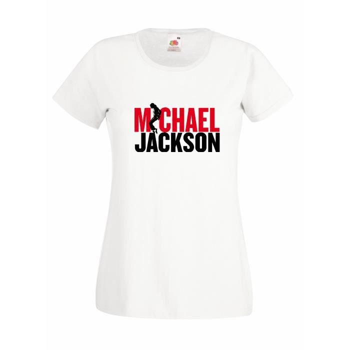 T-SHIRT T-shirt  femme Michael Jackson - red and black log