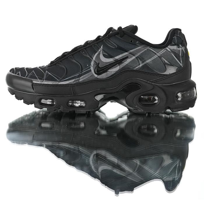 order crazy price huge inventory Baskets Nike Air Max TN Plus TXT Painted Swoosh Designs Homme Noir Running  Chaussures