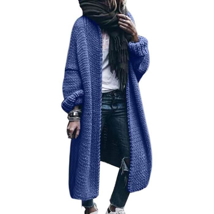 Automne Hommes Chunky tricot Pull Cardigan Pull Chaud Casual Plaid Coat Outwear Haut