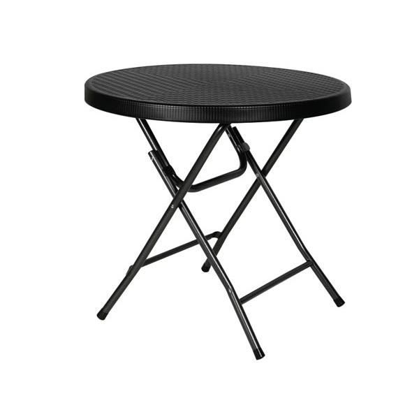 TABLE RONDE PLIABLE - IMITATION ROTIN - Ø 80 x 74 cm - Achat / Vente ...