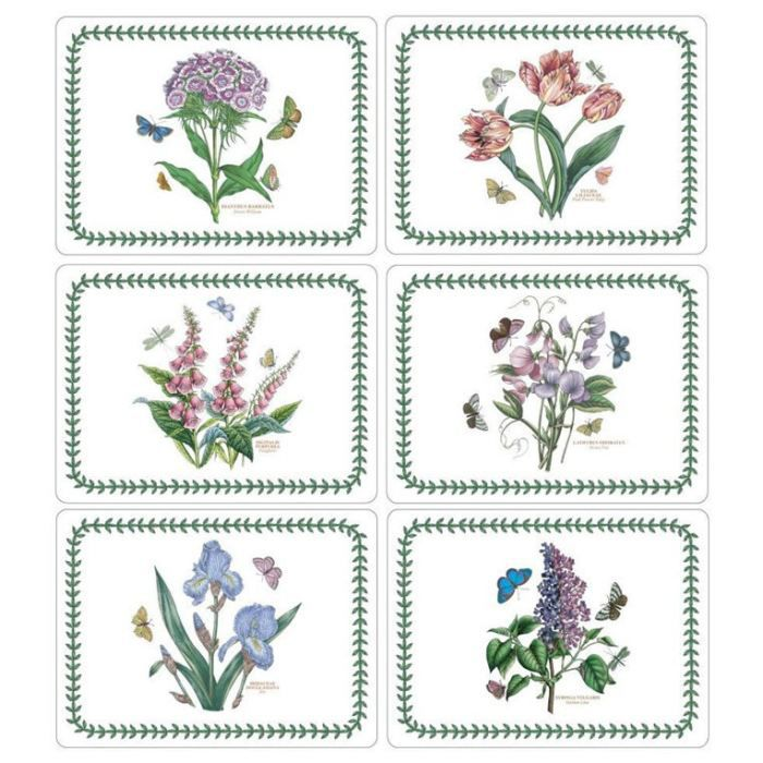 6 sets de table rigides botanic garden format achat for Sets de table rigides