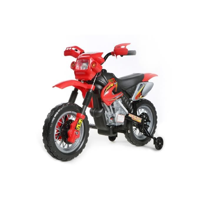 mini motocross rouge 6v lectrique motocross pou achat vente moto scooter cdiscount. Black Bedroom Furniture Sets. Home Design Ideas