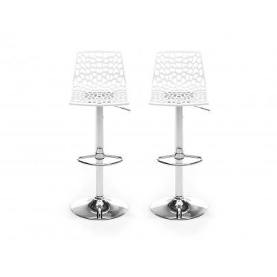 lot de 2 tabourets de bar clark blanc achat vente. Black Bedroom Furniture Sets. Home Design Ideas