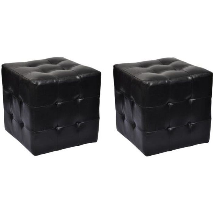 pouf noir achat vente pouf noir pas cher cdiscount. Black Bedroom Furniture Sets. Home Design Ideas