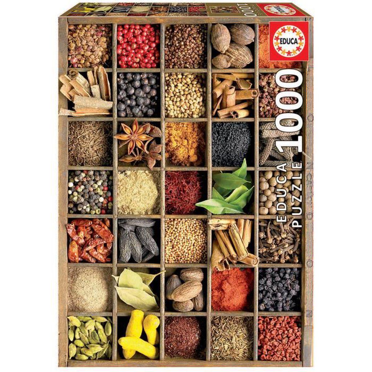 PUZZLE EDUCA - Puzzle - 1000 ÉPICES