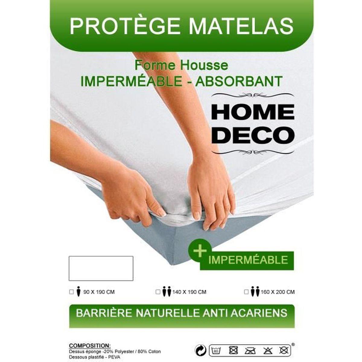 PROTÈGE MATELAS  Protège-Matelas Alèses 180X200cm 2personnes
