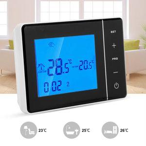 THERMOSTAT D'AMBIANCE Thermostat à Ecran Tactile Blanc sans fil programm