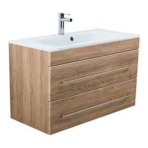 SALLE DE BAIN COMPLETE Meuble salle de bain VITRO 1000 avec vasque en ver
